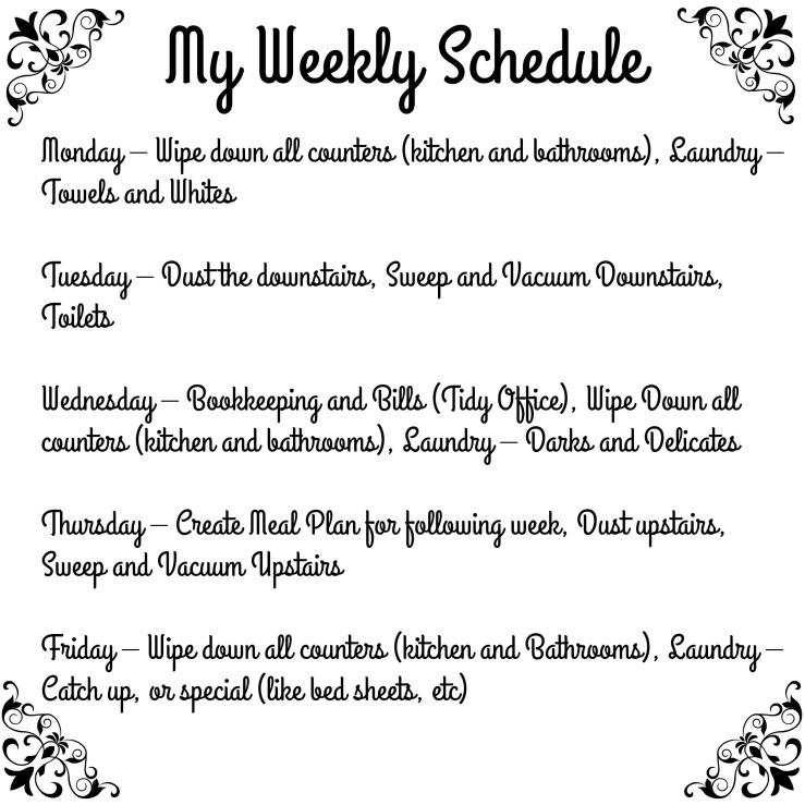 MyWeeklySchedule